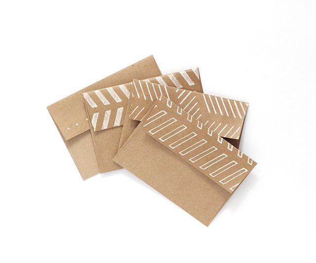 Cute brown paper envelope tutorial