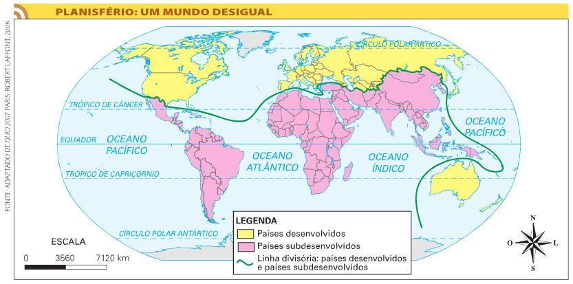 Os países subdesenvolvidos