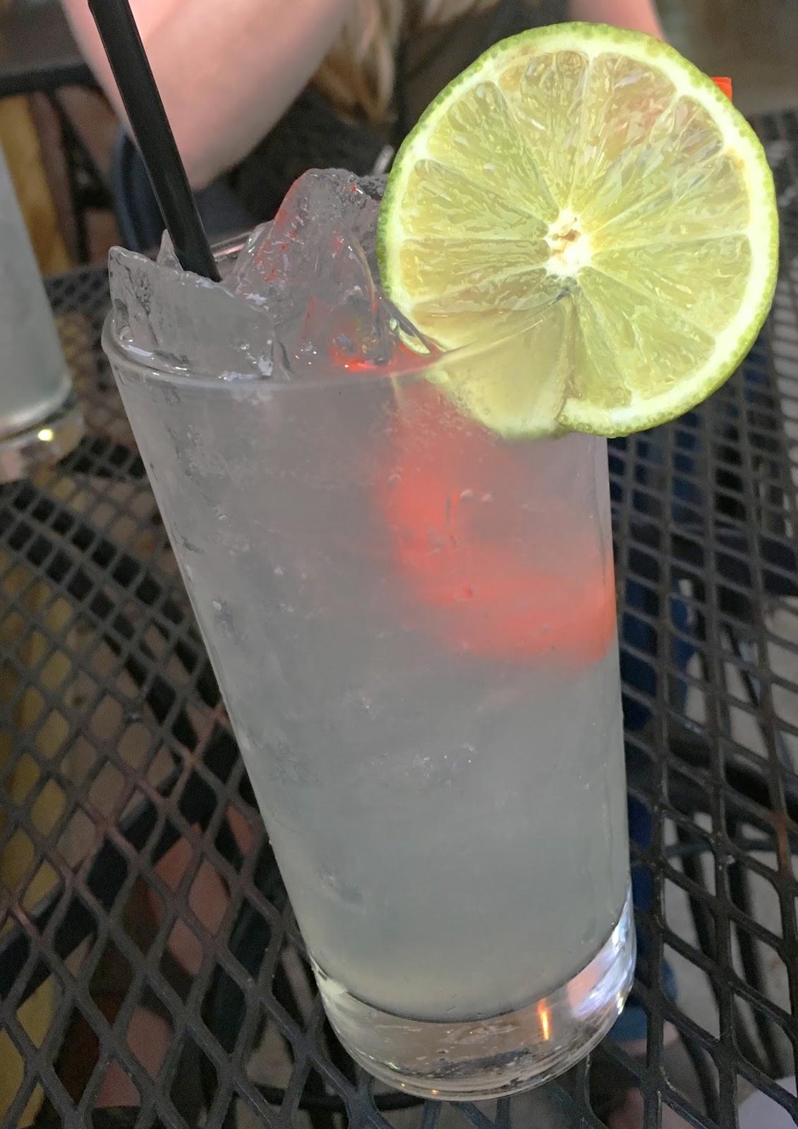 soju cocktail at Republic Diner + Sojubang, a Korean restaurant in Houston, Texas
