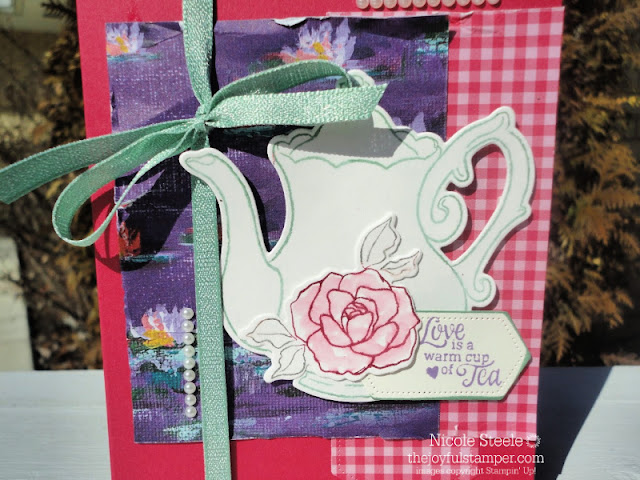 Tea Together Stampin' Up! Nicole Steele The Joyful Stamper Tea Time dies watercoloring Stampin' Write Markers