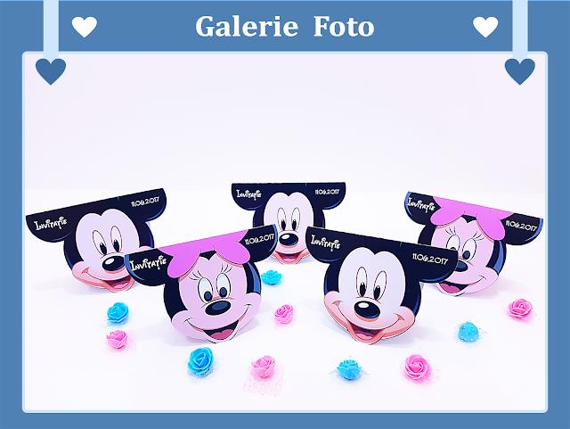 invitatii botez contur Mickey Mouse 2