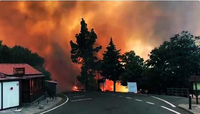Agresivo Incendio cumbre Gran Canaria 20 septiembre