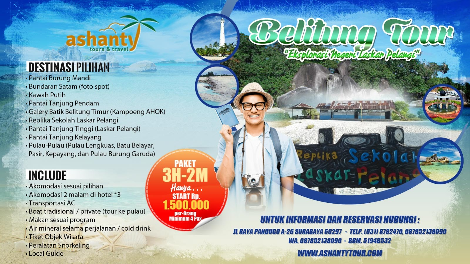 paket tour bangka belitung laskar pelangi, paket tour bangka belitung termasuk tiket pesawat, paket liburan ke bangka belitung murah