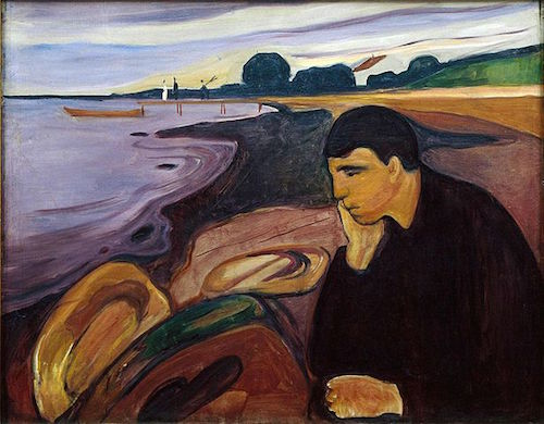 Melancholy by Edvard Munch, 1894-96