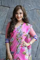 Angela Krislinzki Rogue Movie Fame Telugu Actress in Saree Backless Choli 130.JPG
