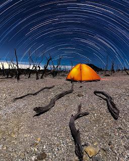 Star Trail milky way hutan mati papandayan