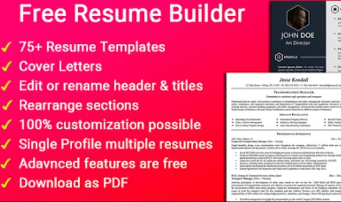 Aplikasi Android dan iOS Terbaik tuk Bikin CV - Resume Builder Free CV