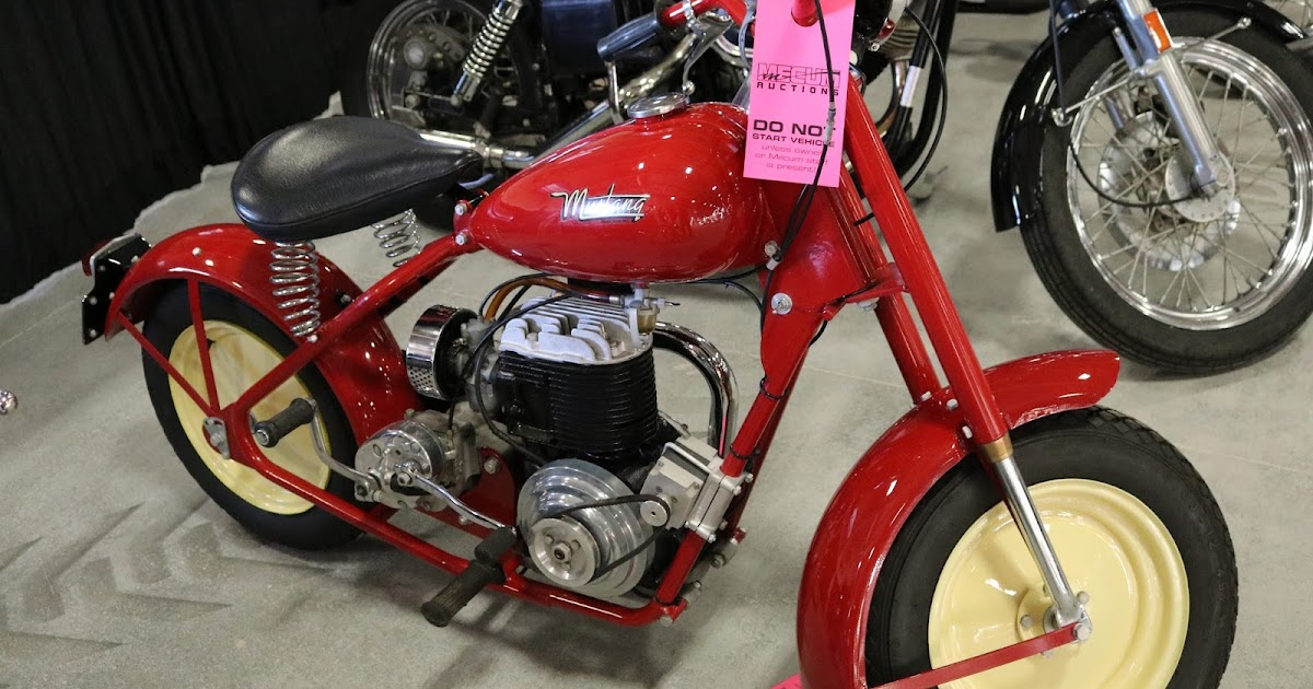 1970 Harley Davidson Evel Knievel Tribute: OldMotoDude: 1949 Mustang Model 2 Sold For $9,000 At The