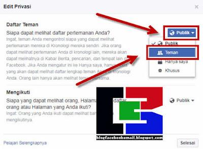 cara agar teman di facebook tidak bisa melihat daftar teman kita lewat aplikasi android
