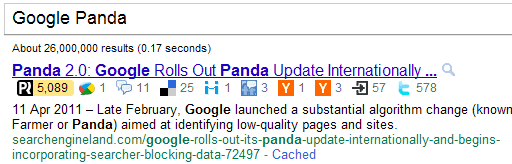 PostRank for Google Search