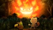 Pikachu y Meowth