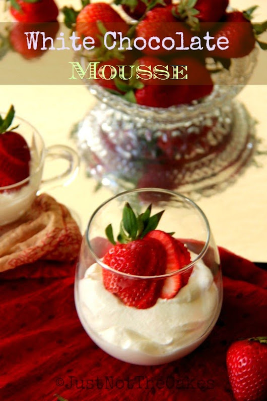 White Chocolate Mousse - Egg Free - Gelatin Free
