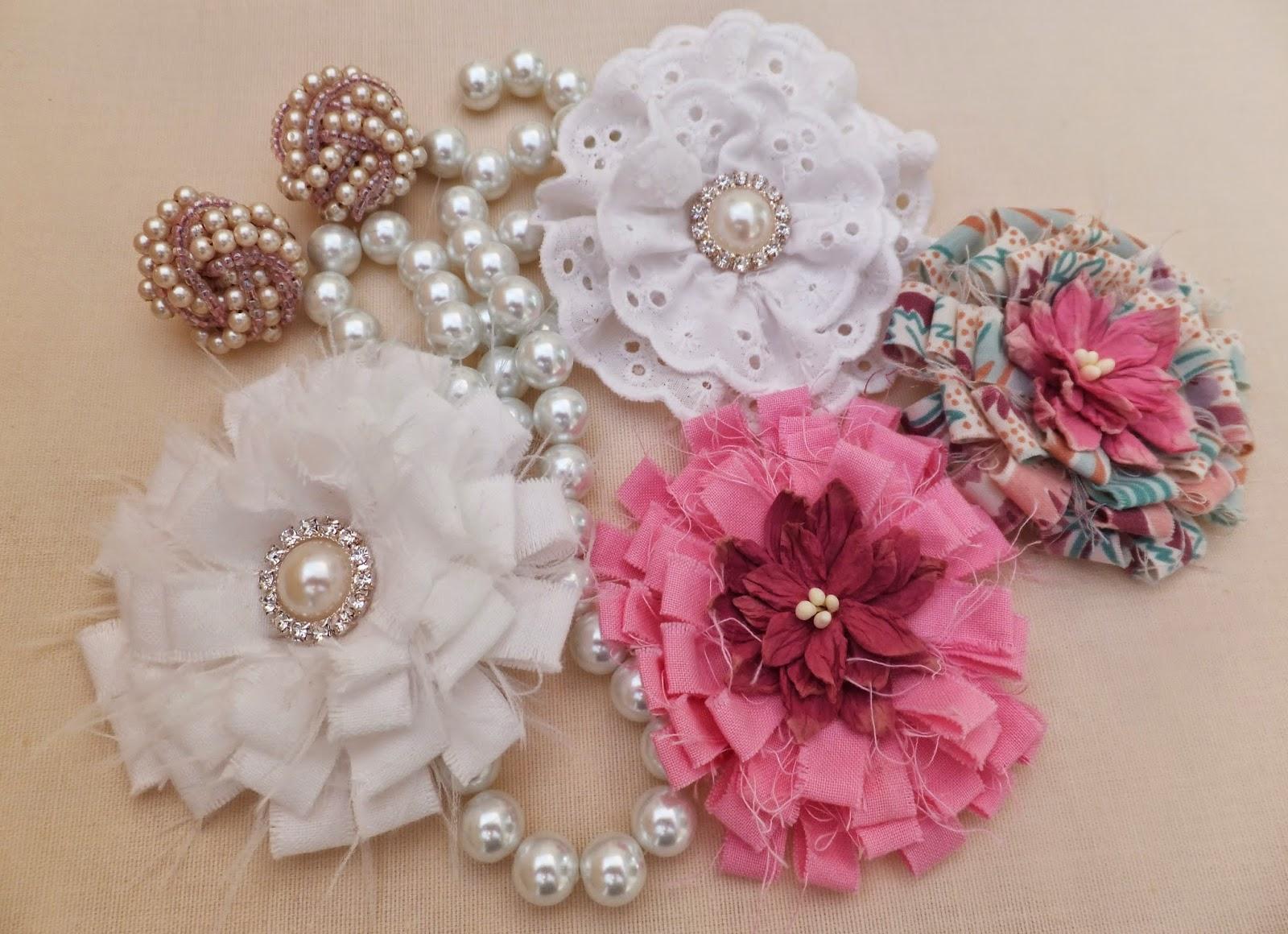 Handmadebymeg Fabric Flowers