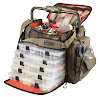 Wild River by CLC WT3702 Tackle Tek Frontier Lighted Handle Bar Tackle Bag, Fishing Bag with Five PT3700 Trays