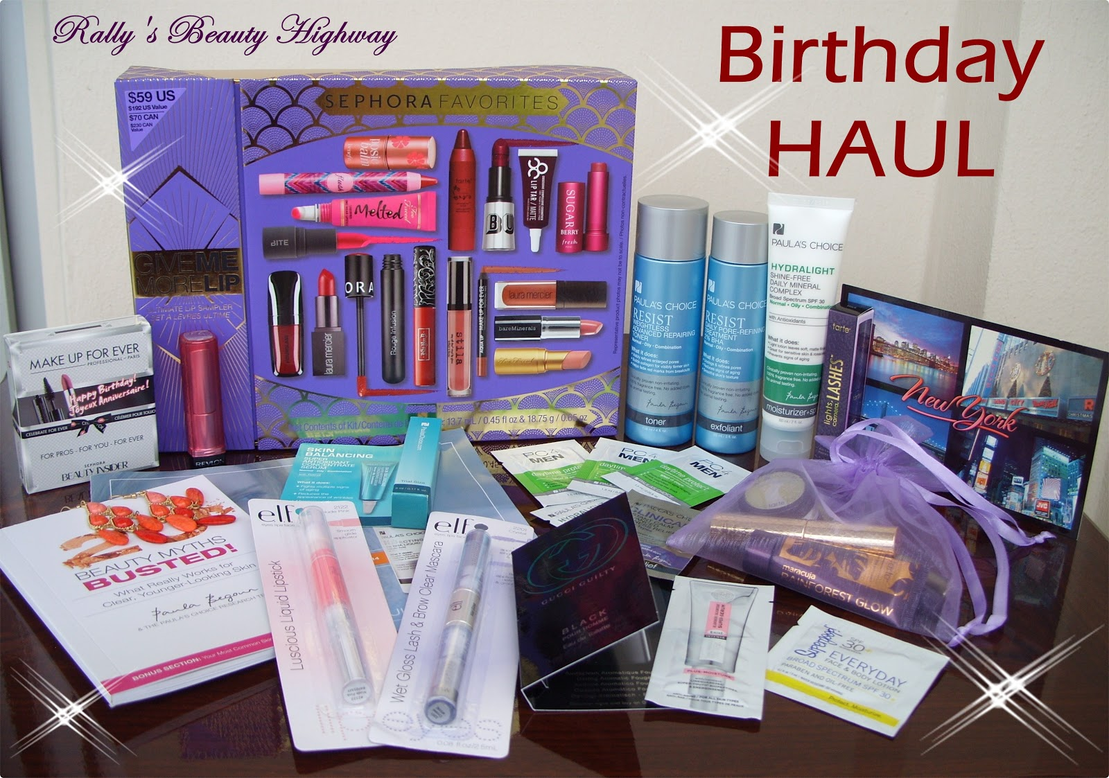 beauty HAUL, Sephora, Paula's Choice, Elf, Tarte, Revlon