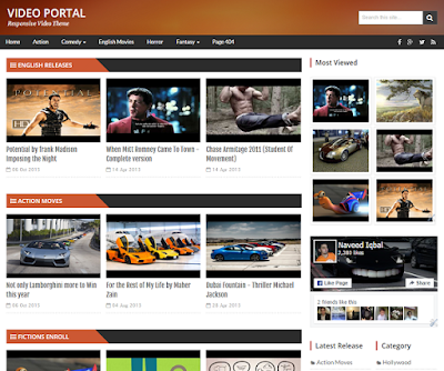 VideoPortal Responsive Blogger Template