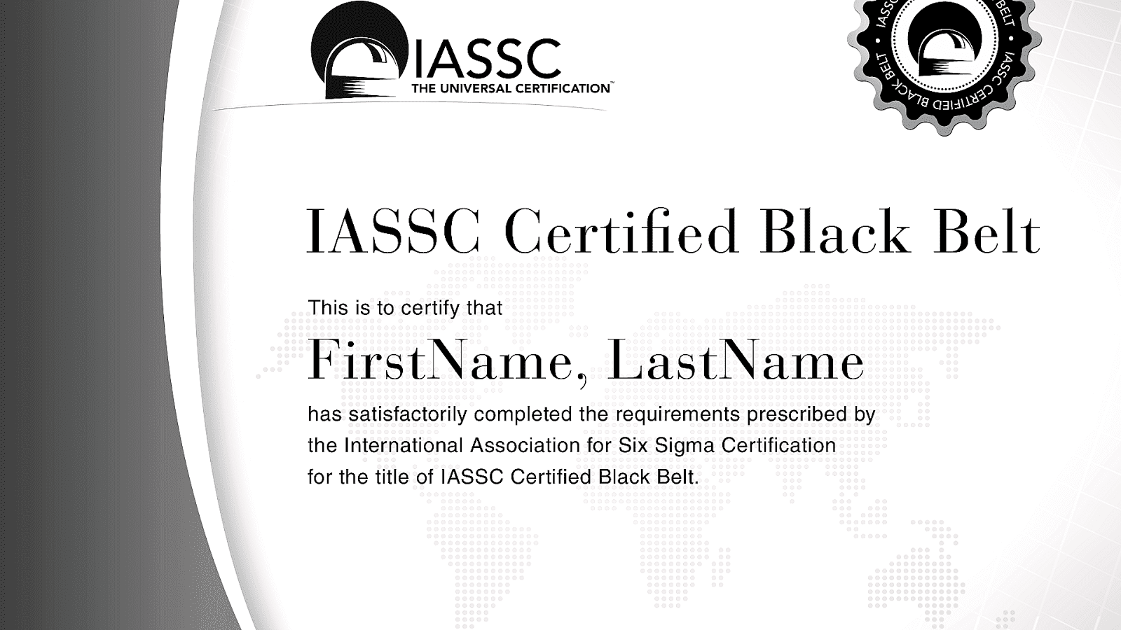 Lean and six sigma certification image collections for Six sigma black belt certificate template