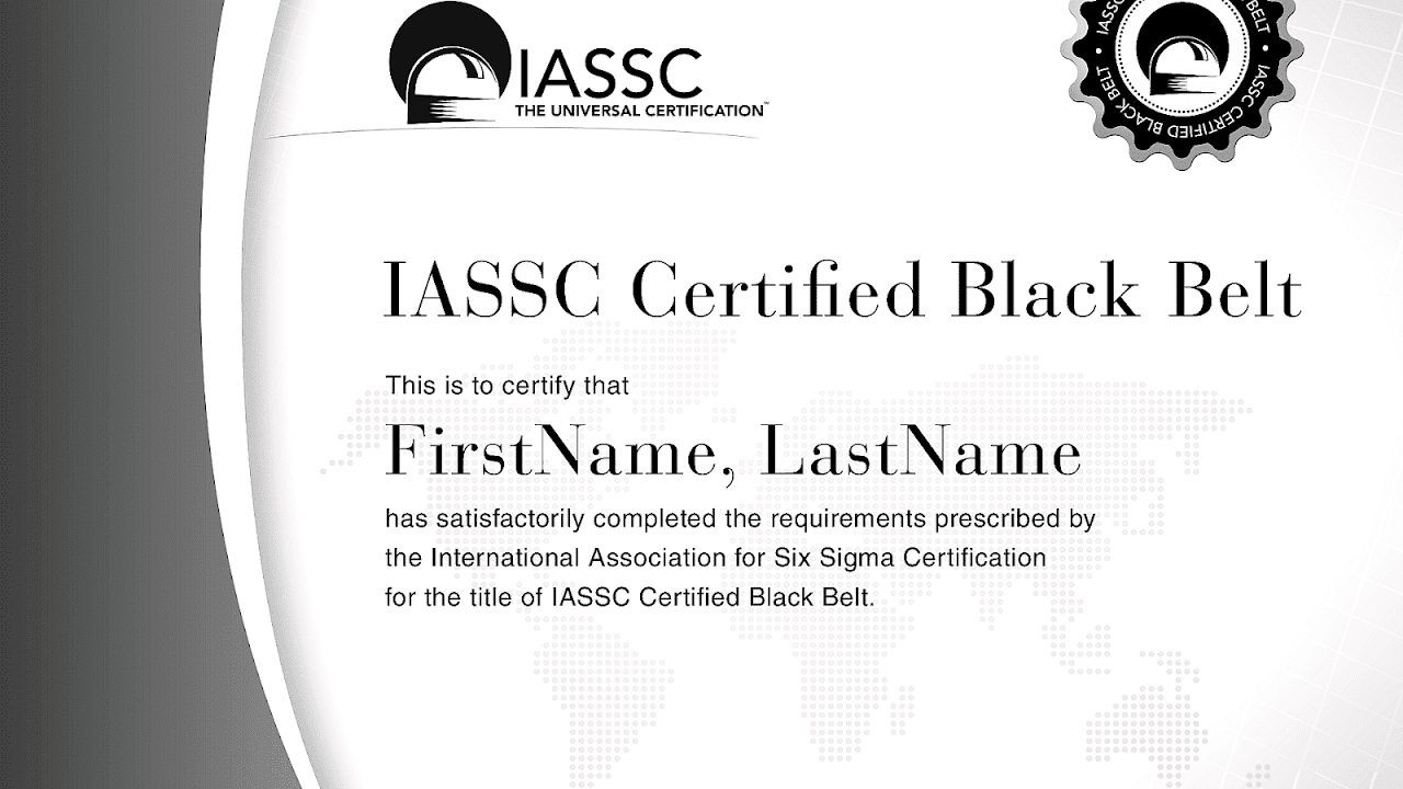 Master Black Belt Six Sigma Black Choices