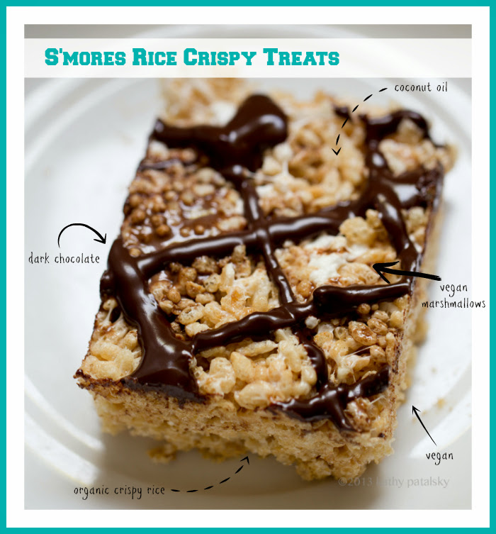 Coconut Oil Rice Crispy Treats. S'mores Inspired. Easy