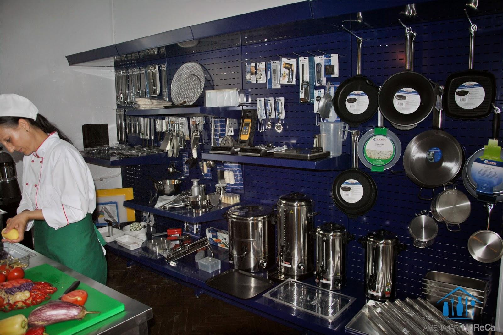 Testare de Accesorii Horeca pentru Bucatarii Profesionale, Showroom Amenajari Horeca in Bucuresti