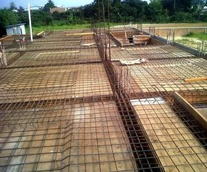 cara dan teknis kerja memasang besi tulangan pelat lantai
