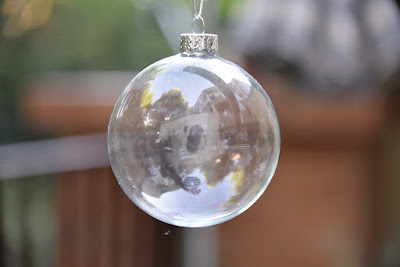 6 X Clear Round Glass Spheres Ornaments 8cm