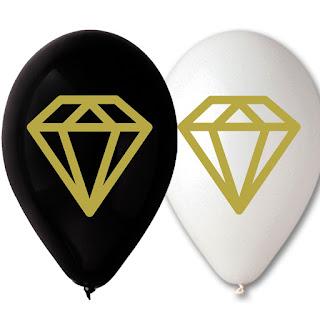 Латексные воздушные шарики с Бриллиантами