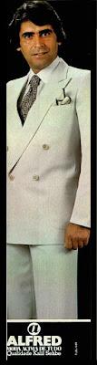 Propaganda Alfred - 1978; moda masculina decada de 70; moda anos 70; propaganda anos 70; história da década de 70; reclames anos 70; brazil in the 70s; Oswaldo Hernandez