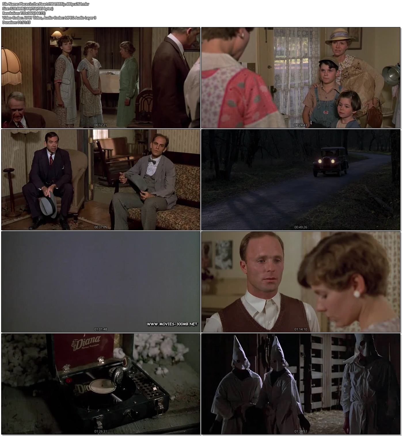 Places in the Heart 1984 BRRip 480p 329MB x264 Screenshot