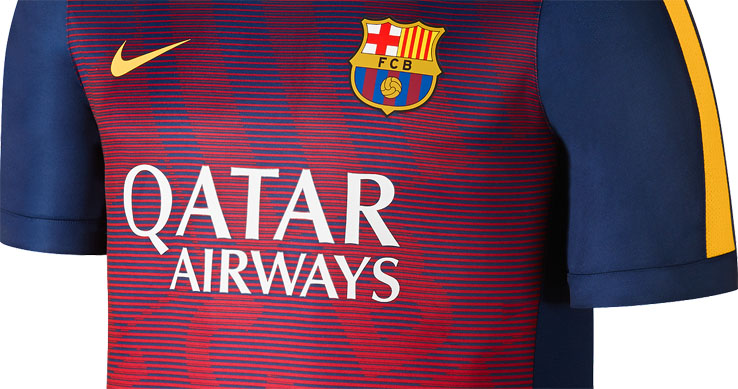 The new spectacular Nike FC Barcelona 2015 Pre-Match Soccer Shirts will be worn  during the warm-up ahead of La Liga c941a9181