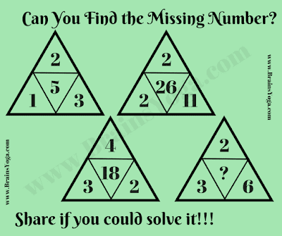 Missing Number Maths Logic Puzzle
