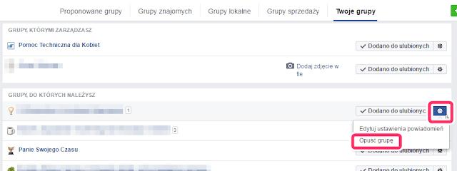 Jak wypisać się z grupy facebook