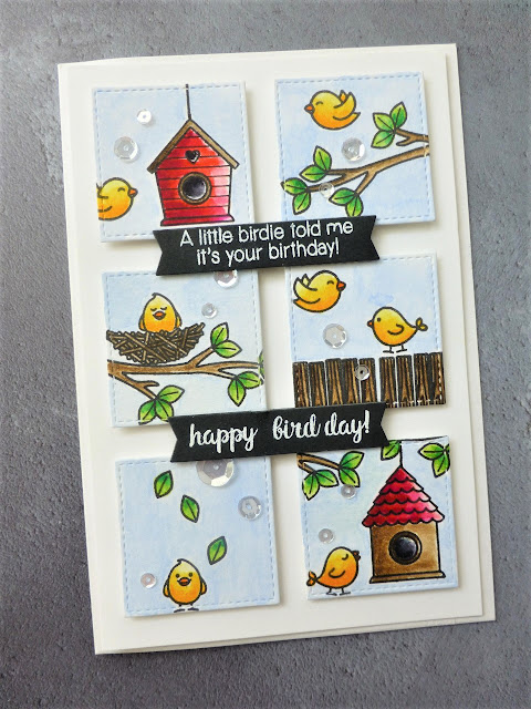 Sunny Studio Stamps: Two Scoops and A Bird's Life Guest Spotlight Cards by Maria Peters