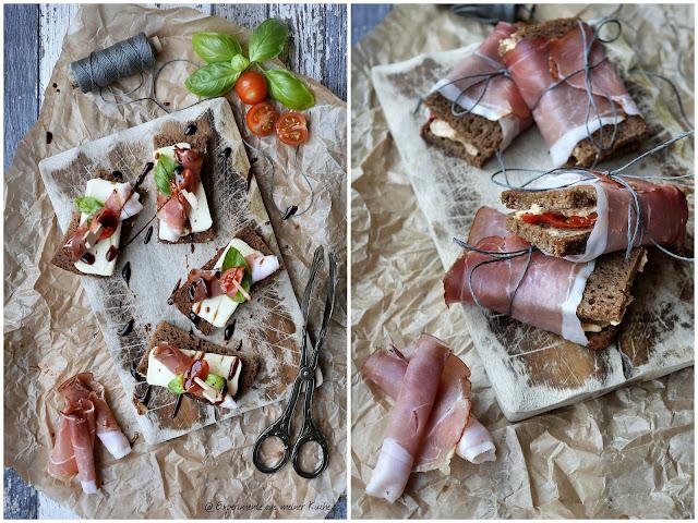 Experimente aus meiner Küche: Zweierlei Brotpralinen mit Schwarzwälder Schinken