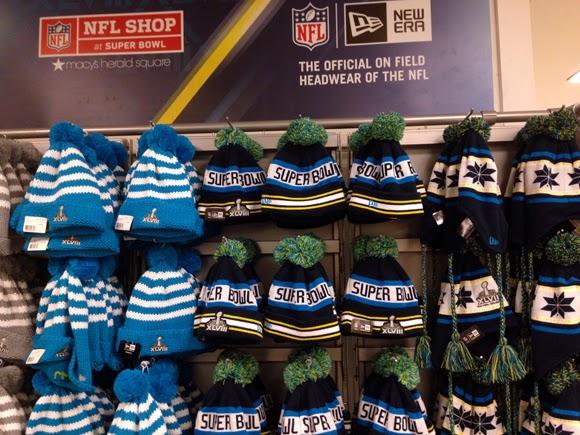 new concept dfbc4 b6f6e Fashion Herald: Macy's Herald Square: NFL Shop at Super Bowl
