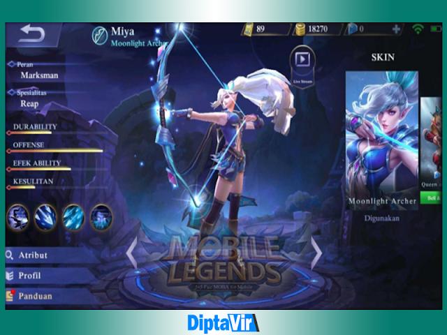 Item Miya Mobile Legends Si Pemanah Tangguh Dengan Hero Marksman