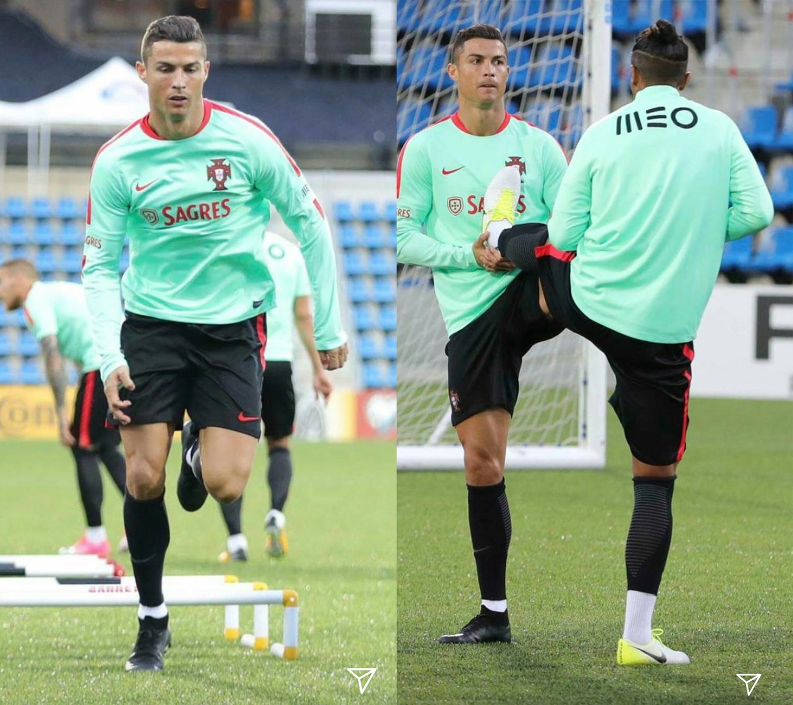 ... Nike Mercurial Superfly VI 2018 World Cup boots worn by Cristiano  Ronaldo in training in early October 2017, reavealing that the upper  structure is ...