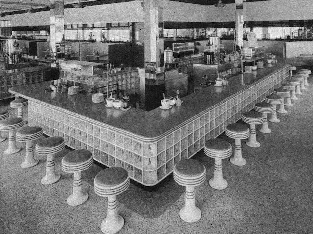 1950 restaurant interior photograph