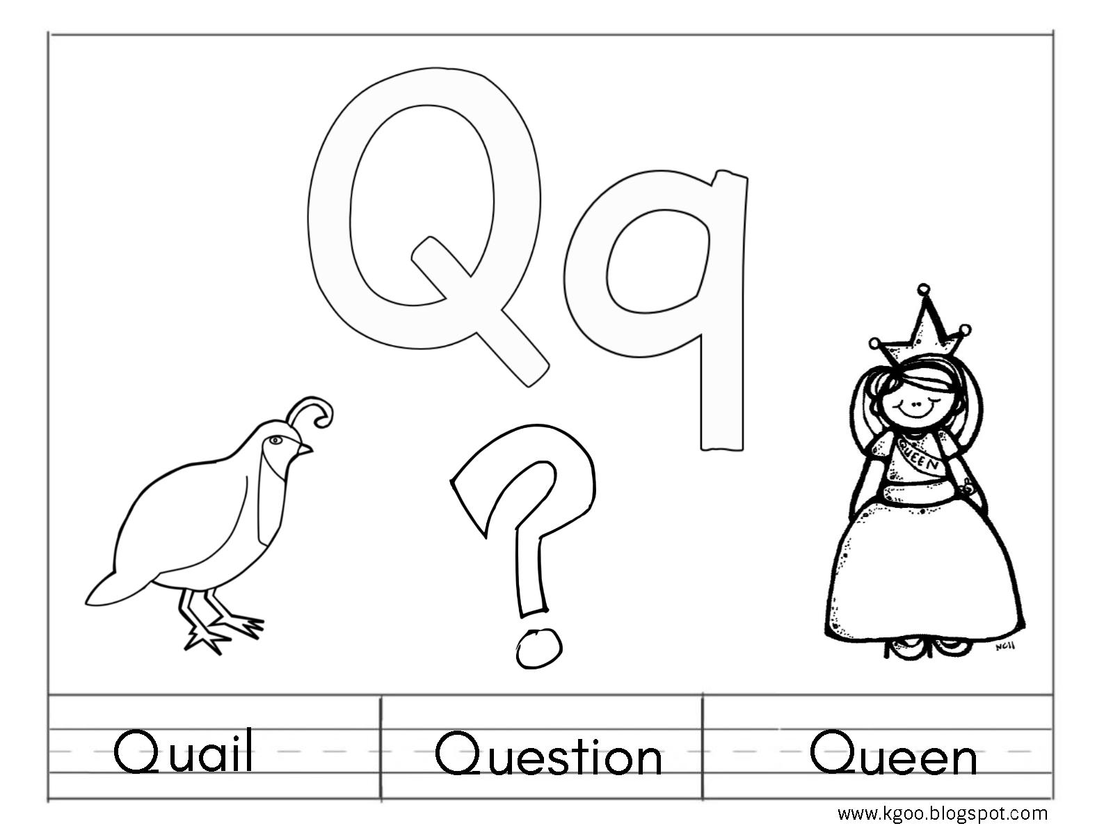 حرف Q للاطفال احرف اللغة الانجليزية