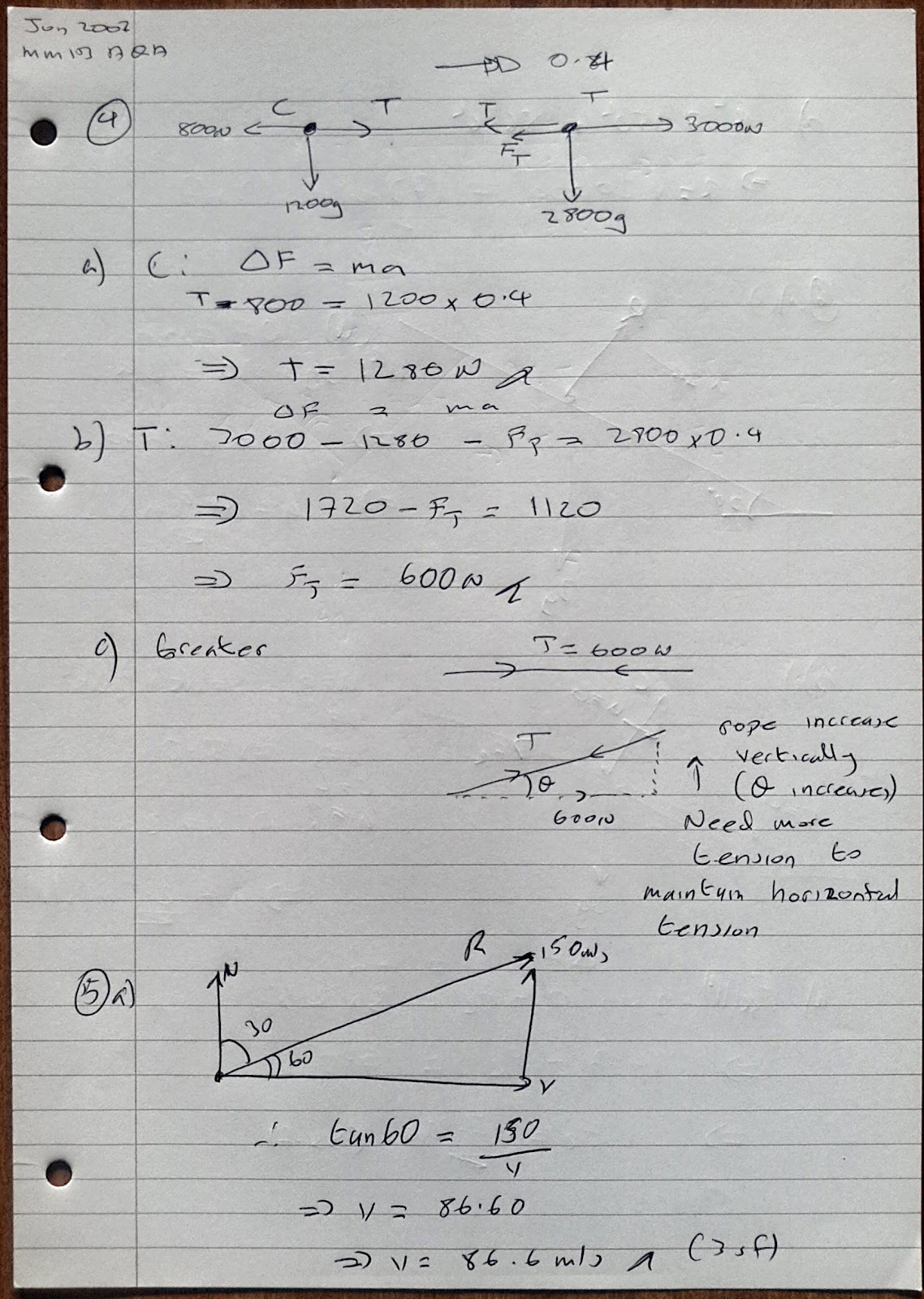 A Level Maths Notes: AQA Machanics 1 (MM1B) Summer 2007