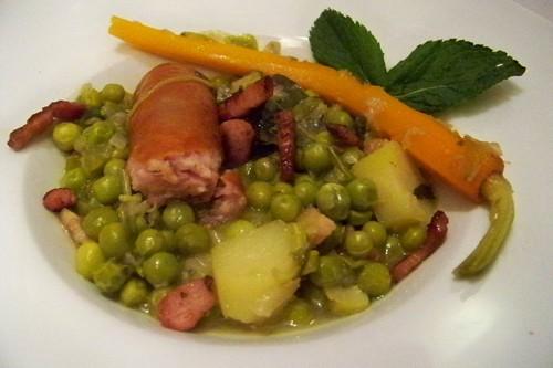 Cuisine en folie petits pois frais l 39 ancienne et - Cuisiner saucisse de morteau ...