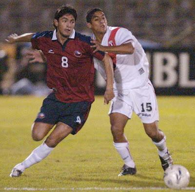 Chile y Perú en partido amistoso, 28 de abril de 2004