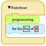 Waterbear to learn html and more