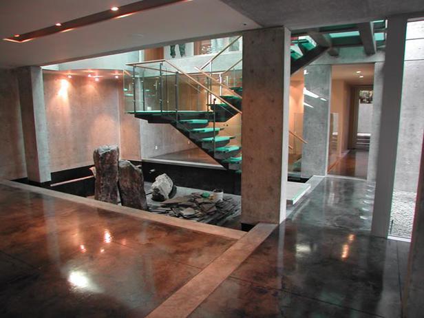 The Happy Homebodies Staining Concrete Floors
