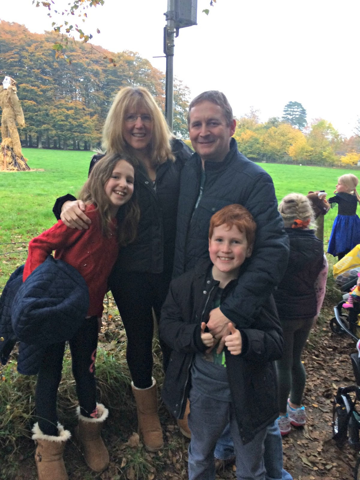 Hobbis Family at Wicker Man burning, St. Fagins, Halloween 2016