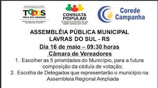 SOCIEDADE: Assembleia Pública Municipal do Orçamento 2018/2019