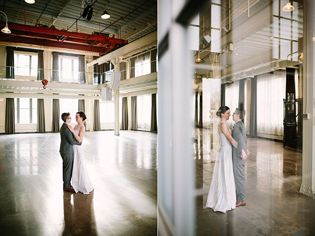 Our tiny elopement in the Machine Shop in Minneapolis, MN | Photography by Jessica Holleque