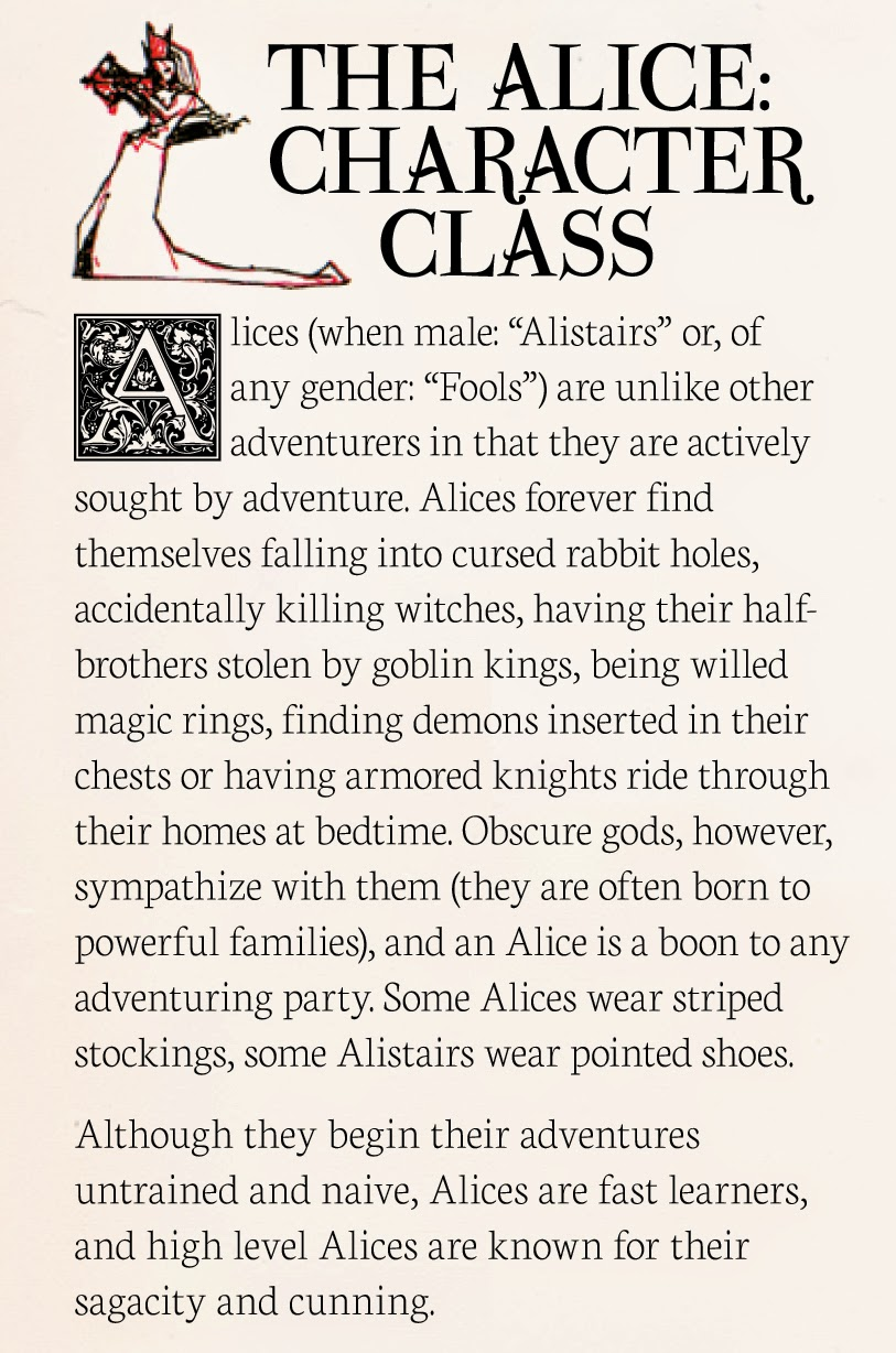 Searching for Magic: The Alice Character Class for 5e D&D or Dude