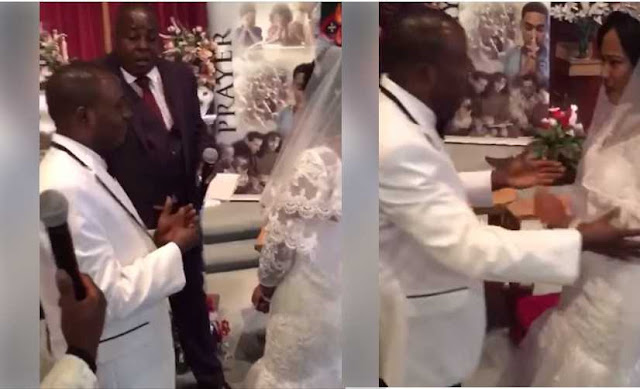 Unhappy Bride Refuses To Kiss Groom At The Altar, Pushes Him Away