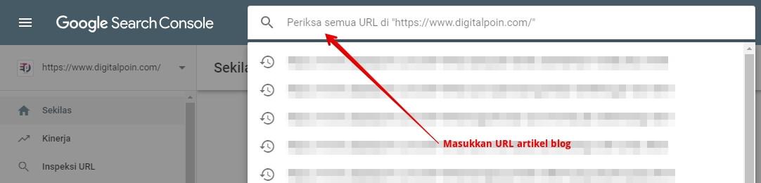 Cara Inspeksi URL Blog